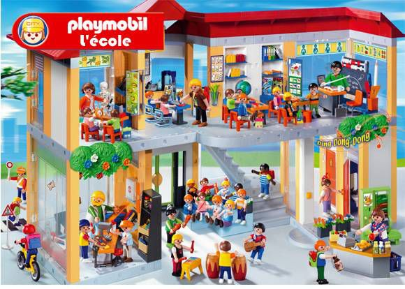 playmobil ecole 4324 achat vente univers miniature. Black Bedroom Furniture Sets. Home Design Ideas