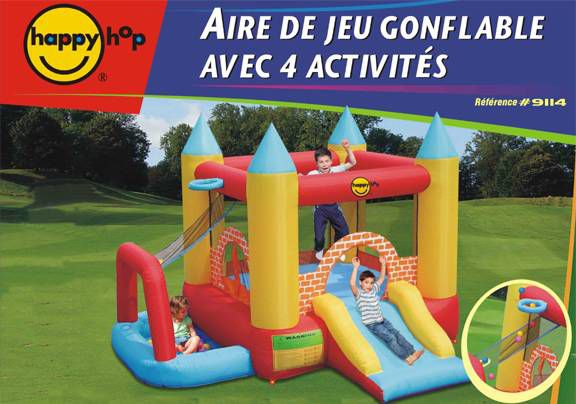 Happy hop ch teau aire de jeux gonflable air puls for Aire de jeu exterieur