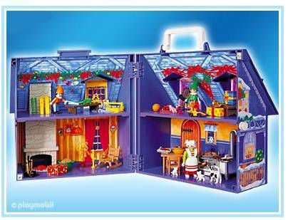 playmobil maison du p re no l achat vente univers. Black Bedroom Furniture Sets. Home Design Ideas